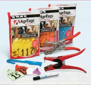 Agri labs Agritag Maxi Cow Ear Tag W button Blank White 25ct