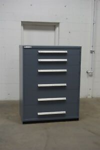Used Vidmar 6 Drawer Bin Cabinet Industrial Toolbox Storage 45 Wide 1336