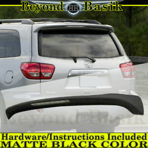 For 2008 2018 Toyota Sequoia Matte Black Factory Style Spoiler Roof Wing W Led
