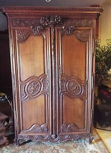 Early 1900 S Solid Wood Carved Cabinet