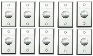 10 Of Electric Door Lock No nc Exit Release Push Button Panel Switch Abk 800a