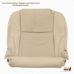 Front Driver Bottom Perforated Leather Seat Covertan For 2009 Lexus Is250 Is350