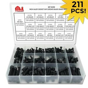 Alloy Allen Socket Head Cap Screws Bolts Black Oxide Assortment 1 4 5 16 3 8