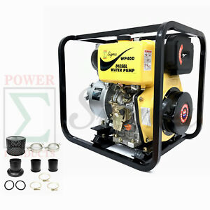 Brand New Heavy Duty High Quality 4 In 10hp 186f Diesel Engine Water Pump