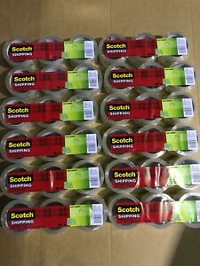 36 Rolls 3m Scotch Sure Start Shipping Packing Tape 1 88 X 43 7 Yard Clear