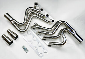 Ford F150 F250 Bronco 87 96 5 8l V8 Tubular Stainless Exhaust Manifold Headers