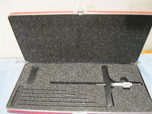 Starrett 445 Dz Depth Micrometer 0 1 6 Base W case