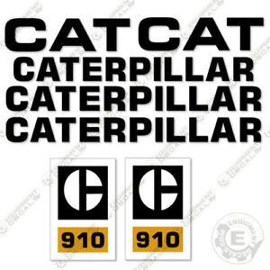 Caterpillar 910 Loader Decal Kit Wheel Loader Equipment Decals 1970s Style