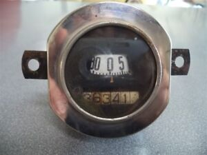 Vintage Late 1930 1931 Ford Stewart Warner Speedometer Used