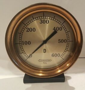 antique 10 American Steam Gage Pressure Gauge All Brass Steampunk Industrial