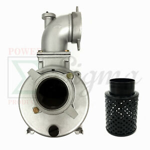 New Semi trash Water Pump Only For Keyed Shafts 4 In Ports