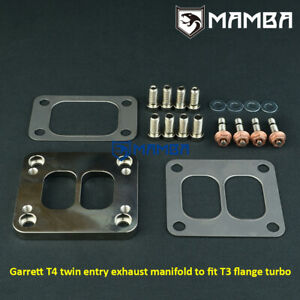 Mamba Garrett T4 Divided To T3 Divided Cnc Turbo Exhaust Manifold Flange Adapter