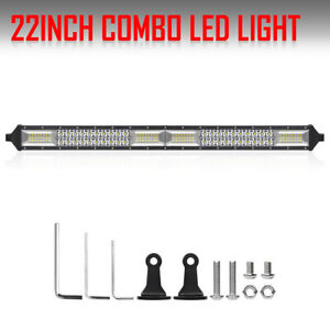 2rows 22inch 1360w Led Light Bar Flood Spot Offroad Pickup For Jeep Ford 20 24