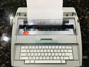 Brother Sx 4000 Electronic Typewriter W Lcd Display Perfect Condition