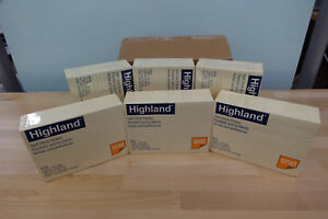 Highland Self stick Notes 4 X 6 inches Yellow 12 pads pack 6 Packs Included