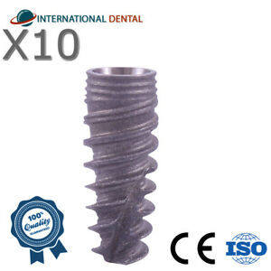 10 Conical Implant rp For Nobel Biocare Active Hex Dental Implants