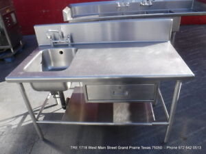 Heavy Duty Stainless Steel 1 Compartment Prep Sink With Faucet 1 Drawer