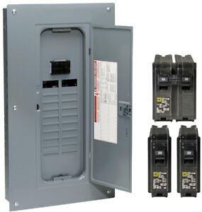 Breaker Box Square D Homeline 100 Amp 20 space 40 circuit Indoor