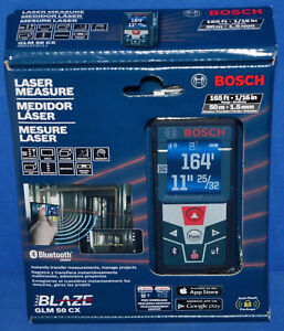 Bosch Glm 50 Cx 165 Ft Laser Measure Bluetooth
