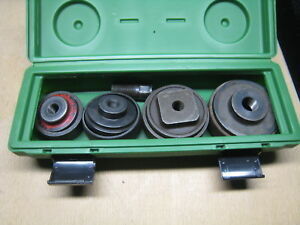 Greenlee 7304 2 1 2 4 Knockout Set With Case Free Shipping