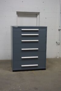 Used Vidmar 6 Drawer Cabinet Industrial Tool Storage 45 Wide 1346 Proto
