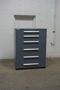 Used Stanley Vidmar 6 Drawer Cabinet Industrial Tool Storage 45 Wide 1343