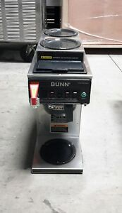 Used Bunn Cwtf15 1l 2u 3 Burner Coffee Brewer For Decanters