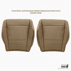 2001 Ford Explorer Xlt Front Driver Passenger Bottom Leather Seat Cover Tan