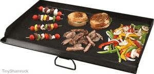 Flat Top Griddle 32 Grill Stove Topper Professional Grade Steel Heavy Duty New