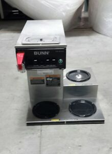Used Bunn Cwtf15 3lwr 3 Burner Coffee Brewer For Decanters