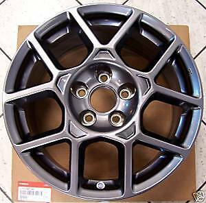 2007 2008 Acura Oem Tl Type s Factory Set Of Carbon Wheels 17 With Center Caps