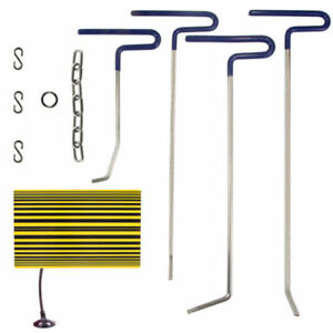 Pdr Reflector Line Board Tool Paintless Dent Puller Rods Removal Repair Auto Kit