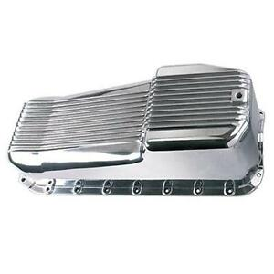Finned Aluminum Oil Pan Sbc 55 79 Chevy Chevrolet Small Block Engine Crate Motor