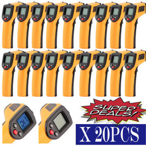 Lot 20 Temperature Gun Non Contact Infrared Ir Thermometer Digital Laser Gun Mx