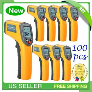 100pc Gm320 Non contact Laser Digital Ir Infrared Thermometer Temperature Gun Mx