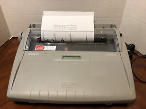Brother Sx 4000 Electronic Typewriter With Keyboard Cover Great Condition