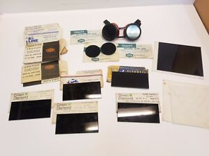 Lot Of Assorted Welding Filter Plates Clear Plastic Plates Shields 2 x 4 1 4