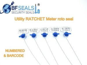 Bfseals High Electric Security Utility Twist Plastic Meter Seal 400 Pcs Blue