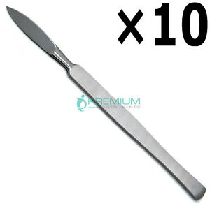 10 Pcs Dental Surgical Scalpel Handle W Blade 15cm Working End 4cm Instruments