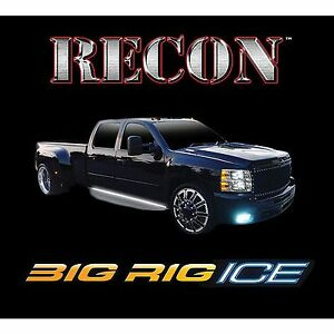Recon 26414x 62 Big Rig Ice White Running Lights Led