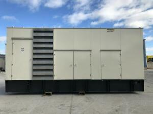 1000 Kw Generac Generator Set 12 Lead Sound Attenuated Base Fuel Tank