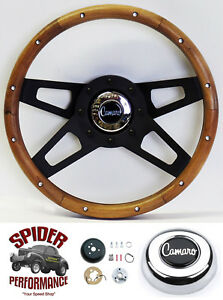 1969 1994 Camaro Steering Wheel 13 1 2 Walnut 4 Spoke Black