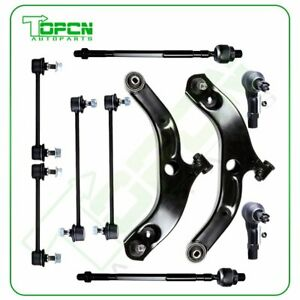 10pc New Front Lower Suspension Kit Tie Rod End For 2001 2002 2003 Mazda Protege