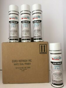 2 In 1 Primer Spray Can Aerosol 12 Cans 1 Case White 15 Oz 4633