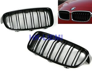 Bmw Gloss Black Dual Line Front Kidney Grille Grills For F30 328i 335i 2012 2016