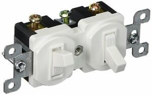 X10 Morris 82091 Double Toggle Switch Single Pole 120v 15 Amp Current White
