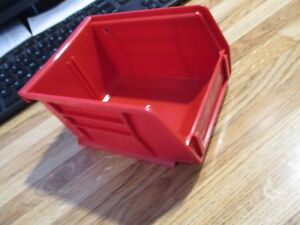 Lot 70 Red Storage Bins Stack Or Hang Small Parts Make Offer On Smaller Qty