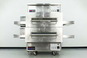 Reconditioned Middleby Marshall Ps360s 32 Double Deck Gas Conveyor Pizza Oven