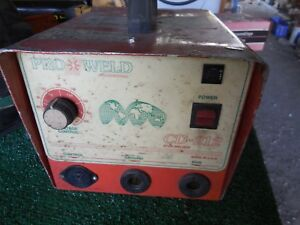 Pro weld Cd 212 Stud Welder With Leads And Cart Used