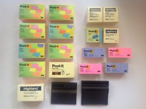 113 Post it Notes Lot 3x5 45 Pads 3x3 20 Pads 1 1 2 X 2 48 Pads 2 Dispensers